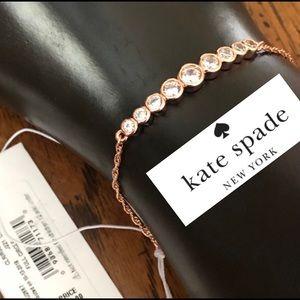 NEW Kate Spade Rose Gold Full Circle Adjustable Slider Bracelet